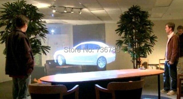 Hologramme publicitaire holographique arrière film adhésif projection 3D projecteur écran film feuille pour fenêtre boutique église hôtel hall - 5