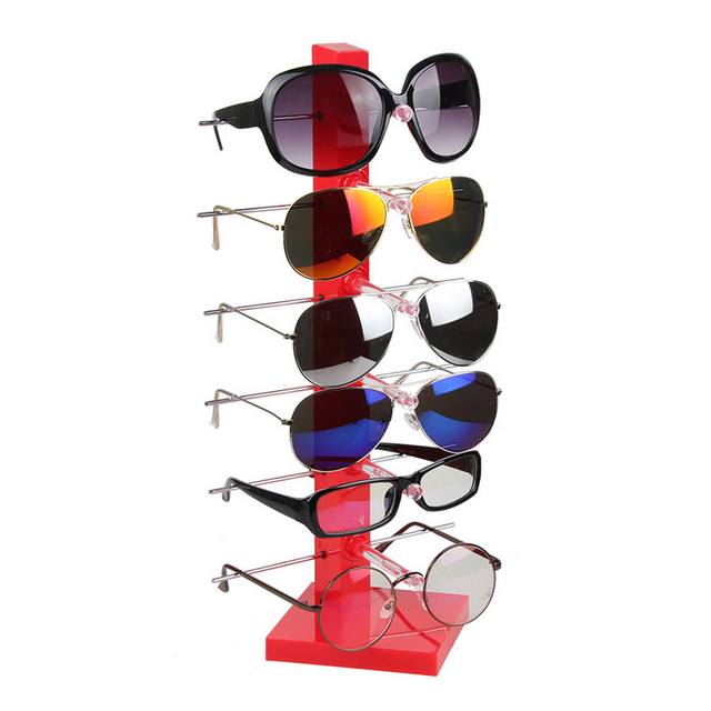 cf6cc242f0 High Quality Plastic Sunglass Display Rack Shelf 6 Pairs Eyeglasses Showing  Stand Jewelry Holder Glasses Display Props Frame