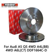 2 peças/set Ferodo 4WD Carro Disco De Freio Dianteiro Para Audi A5 Q5 A4 (B8) 4WD A6 (C7) DDF1664C-D