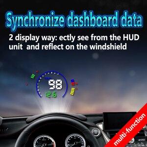 Image 2 - Pantalla head up GEYIREN S600, proyector de velocidad de coche hud, interfaz OBD, velocidad HUD, voltaje RPM, temperatura del agua, consumo de combustible
