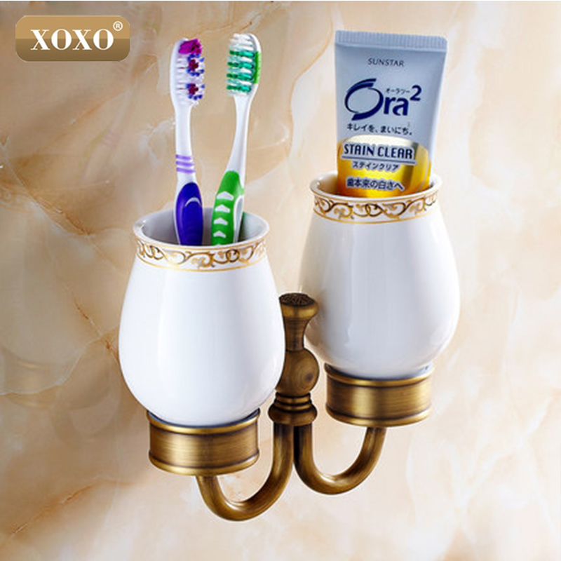 XOXO New arrival Brass antique tumbler holder cup&tumbler holders tumbler toothbrush holder bathroom accessories 20084DB camber plates for bmw 3 series e46 320 323 325 328 m3 316 1998 2005 top mounts golden plates pillow ball golden