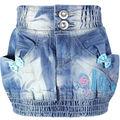 Girls Sheath Denim Skirts 4-7Y Children Blue washed Embroidery Letter Pattern buttons Zipper Kids Slim Pencil slinky skirt LL350