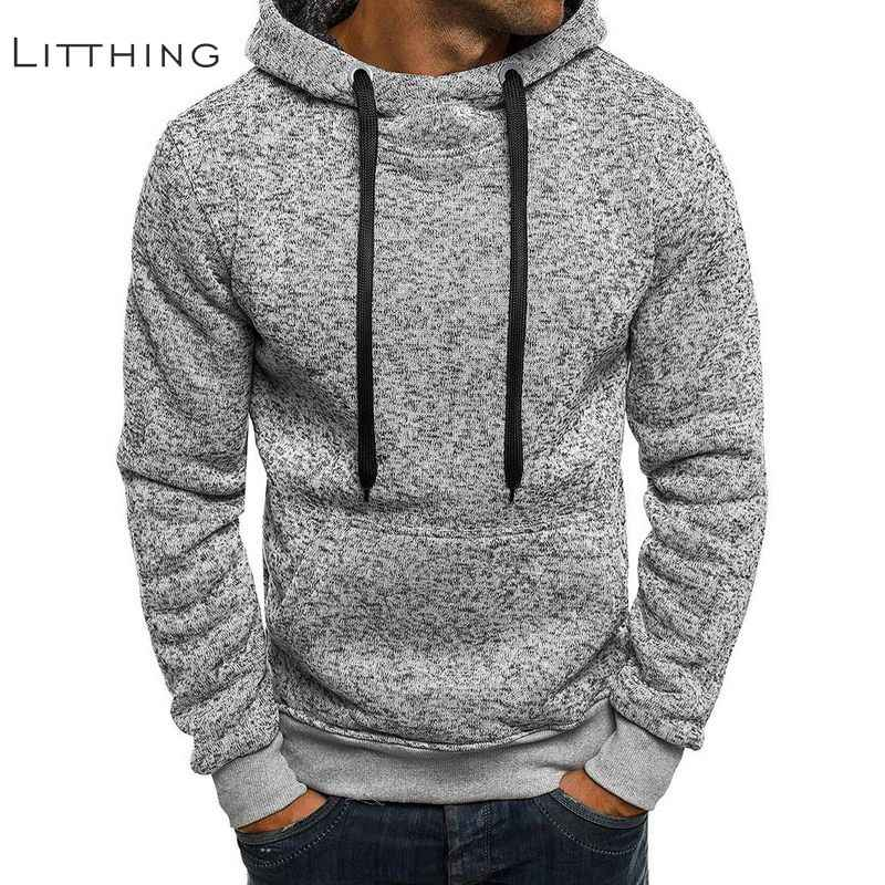 Litthing Brand Sweatshirts Men Hoodies Winter Solid Hoodies Mens Hip Hop Coat Pullover Men's Casual Tracksuits Masculino