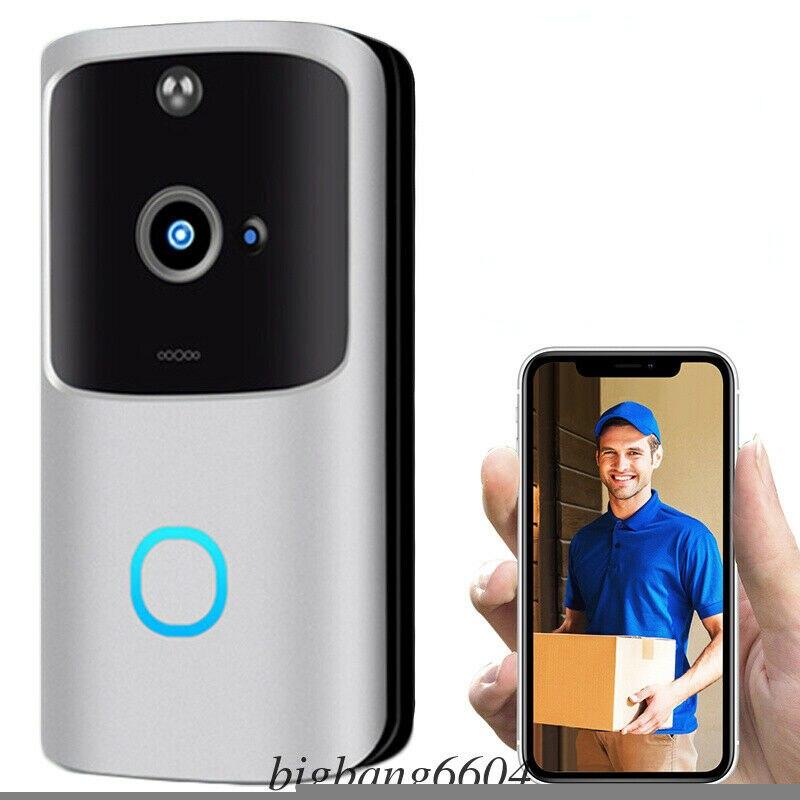 Smart WiFi Doorbell Camera Video Wireless Door Bell CCTV Chime Phone APP USA ^