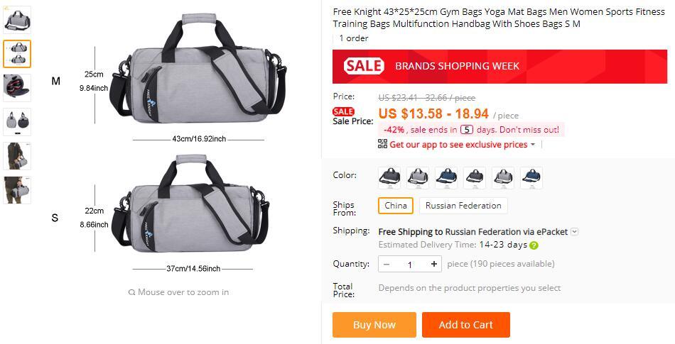 Free Knight Waterproof Men Sports Gym Bags New Leisure Yoga Fitness Bag  Women Travel Handbag Training Duffle Bag 2ffa6e290e2e0