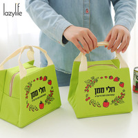 LAZYLIFE 2017 New Cooler Bag Folding Insulation Large Meal Package Lunch Picnic Bag Insulation Thermal Insulated