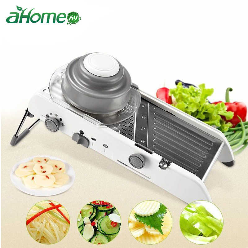 Mandoline Slicer Stainless Steel Vegetable Julienner Adjustable Safe Blades Grater Professional Multi-function Tomato Slicer