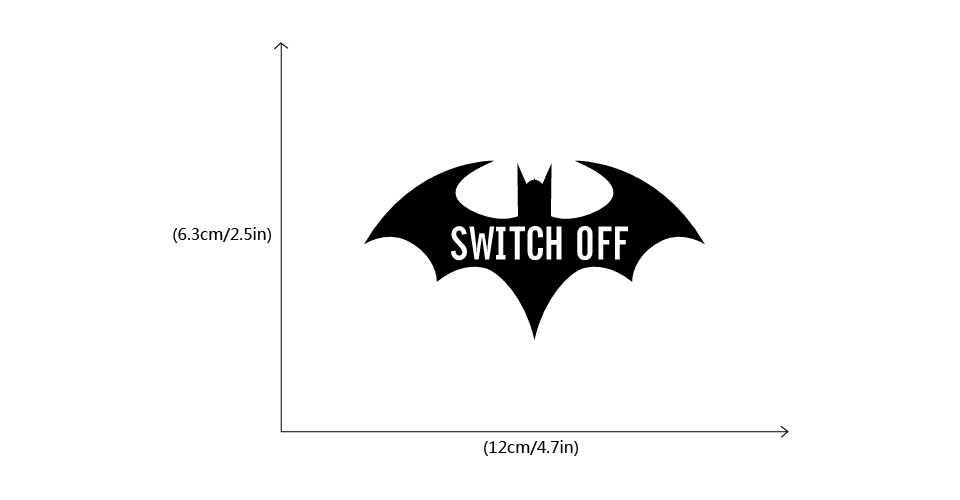 12*6 3cm Cartoon Batman Silhouette Switch Sticker Creative Batman Save  Electricity Window Stickers Home Decor