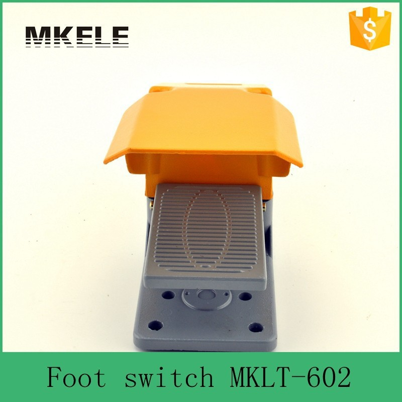 ФОТО MKLT-602 low price foot operated single treadle foot switch ,tattoo machine foot switch china supplier ,aluminum foot switch