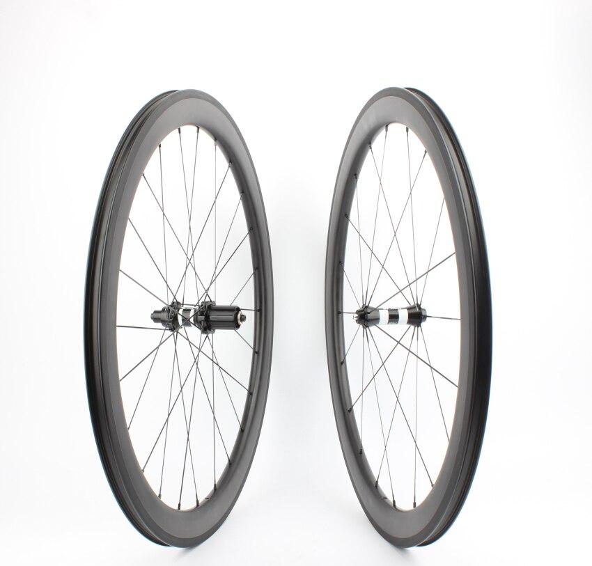 Buje sin cámara Farsports FSC50-CM-25 DT350 buje sin agujero de Radio Exterior 50 rueda de carbono, rueda de carretera 700c bike Tubeless clincher rim wheelset