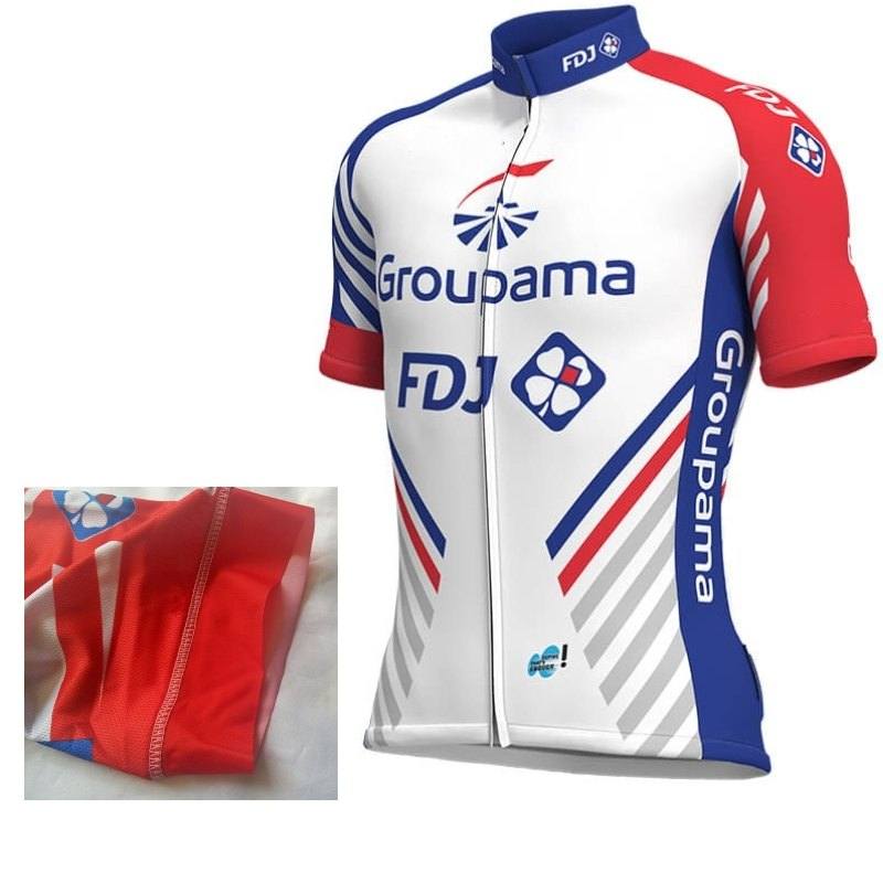 fc19af65d 2018 italy MITI elastic sleeve power band pro team groupama fdj mens summer  bike cloth cycling jersey MTB Ropa Ciclismo maillot
