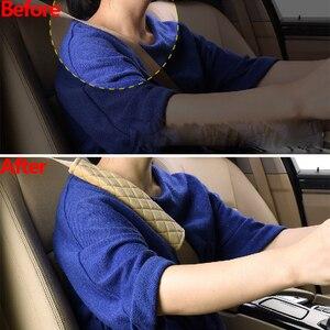 Image 2 - Seggiolino Auto Spalle Cintura Pad Coperture Merci Caldo Cuscino Breve Peluche di Sicurezza di Protezione Della Spalla Accessori per Interni Auto 4 Stagione