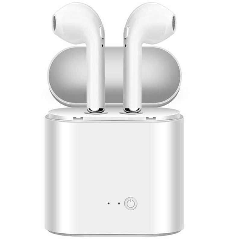Беспроводные Bluetooth i7s наушники в ухо стерео наушники гарнитура с зарядным устройством для всех смартфонов без розничной коробки