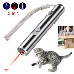 Мини-красная лазерная указка USB перезаряжаемая 3 в 1