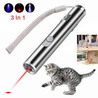 Mini ponteiro laser vermelho usb recarregável 3 em 1