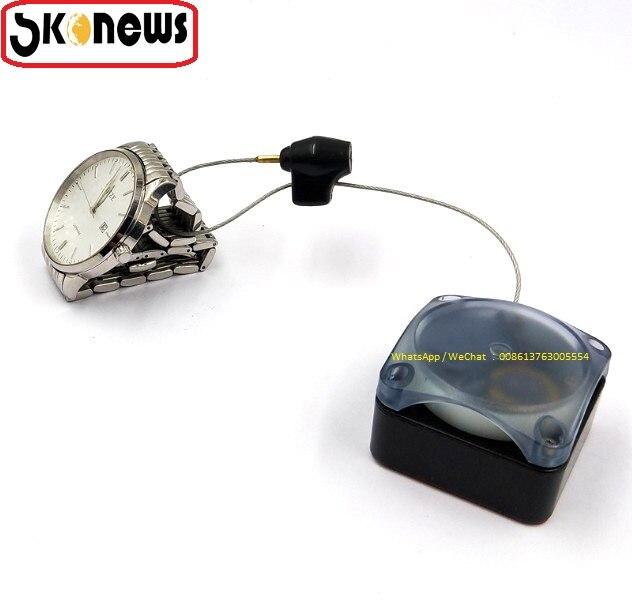 084d64c49 10 pcs bens de Luxo Sistema de Alarme de Segurança da loja De varejo Cabo  Retrátil Caixa de Tração de Plástico mercadoria anti roubo recoiler cabo em  ...