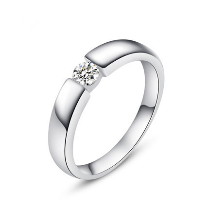 Wedding-Rings Jewelry 925-Sterling-Silver Cubic-Zirconia Gift Men Lose Money-Promotion