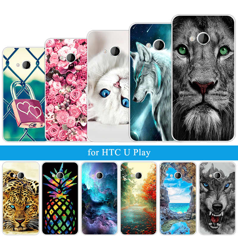 For HTC Desire 628 One M8 M8s U Play Ultra Fashion Phone Fitted Case Soft Silicone Wolf Coque For LeTV LeEco Le Eco 2 Max Pro