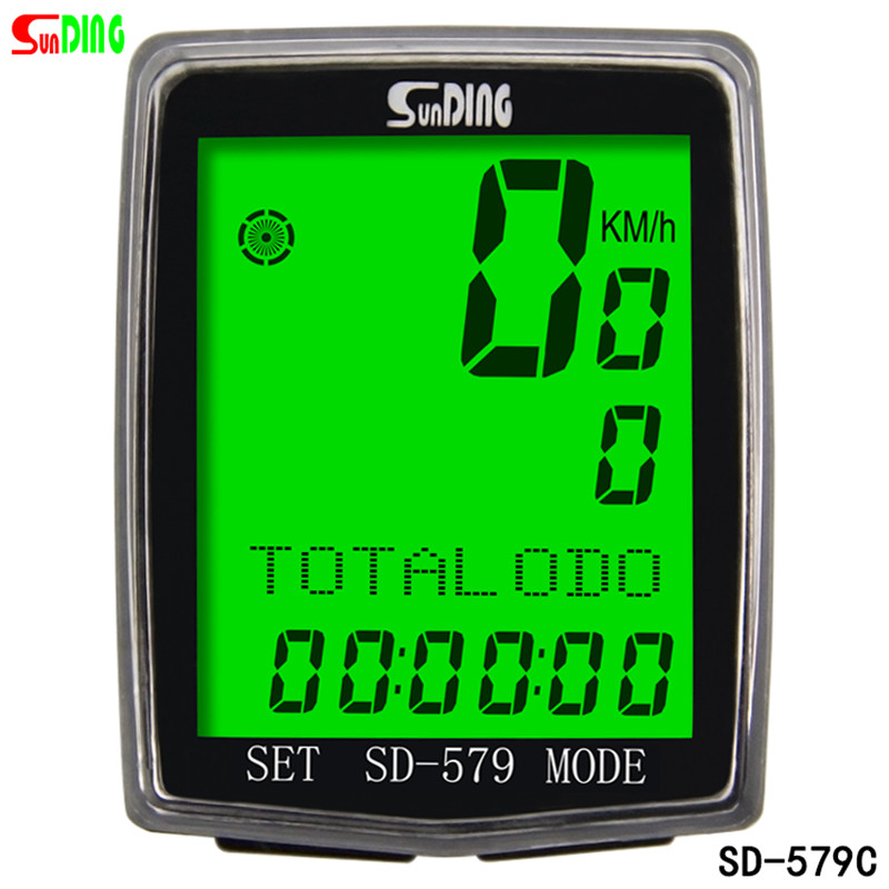 Sunding SD 579C bike speedometer wireless temperature testing stopwatch bicycle computer cycle cycling odometer accessories wireless bike bicycle computer speedometer waterproof led cycle cycling odometer zmb02