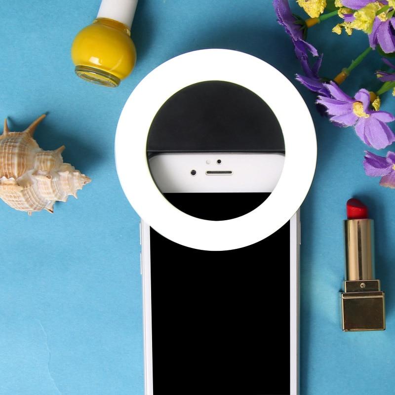 Yeni Moda Şarj Edilebilir selfie halka ışık Klip LED selfie flaş - Kamera ve Fotoğraf - Fotoğraf 6