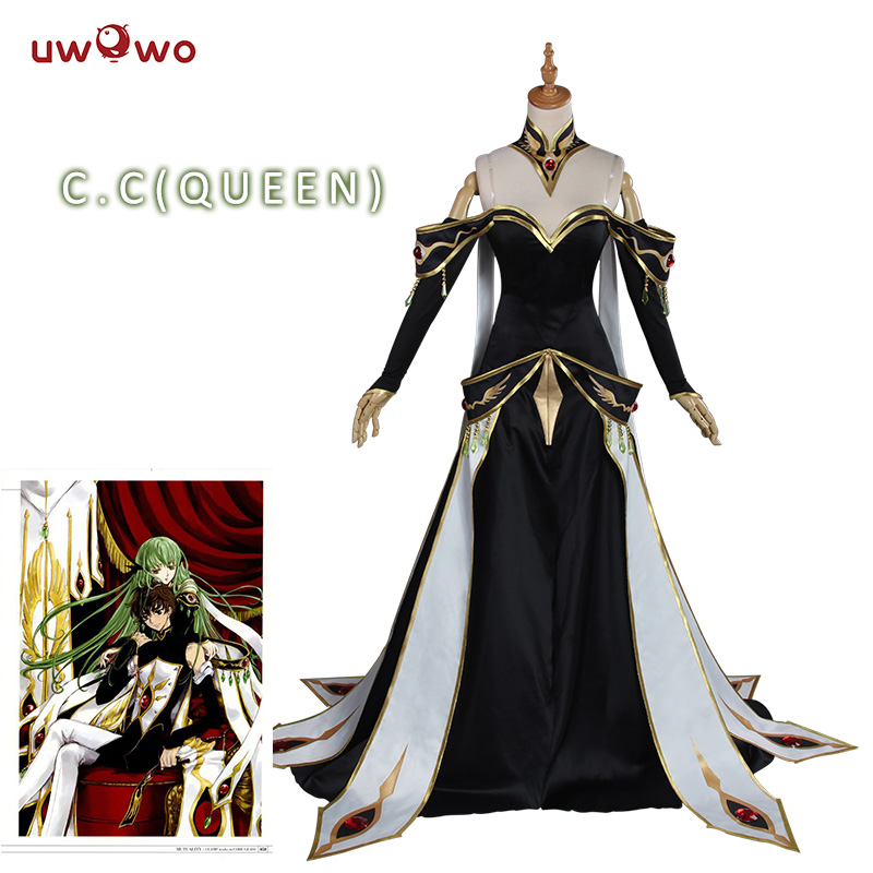 UWOWO CODE GEASS Cosplay Lelouch of the Rebellion C C Empress Ver Costume Anime CODE GEASS