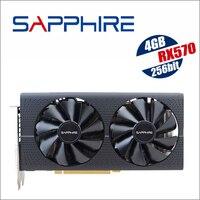 Original Used SAPPHIRE Radeon RX 570 4G 4GB RX570 256bit GDDR5 PCI Express 3.0 desktop gaming graphics cards video card 7000MHz