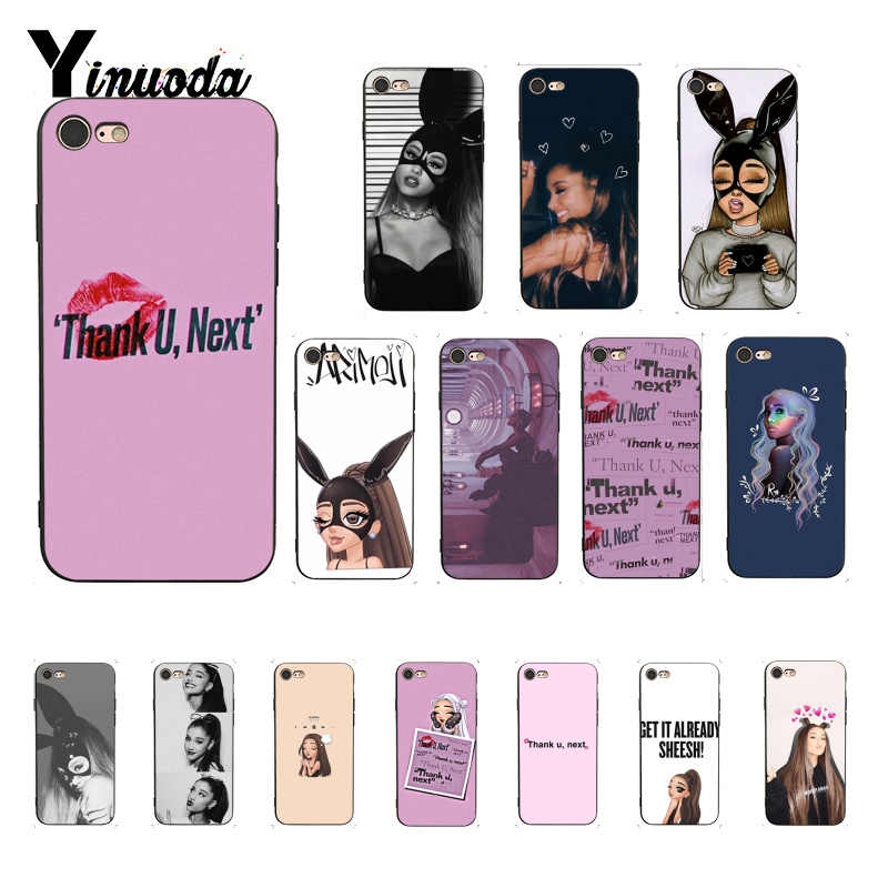 Yinuoda Thank U Next Ariana Grande Colorful Cute Phone Case for iPhone 8 7 6 6S 6Plus 5 5S SE XR X XS MAX Coque Shell