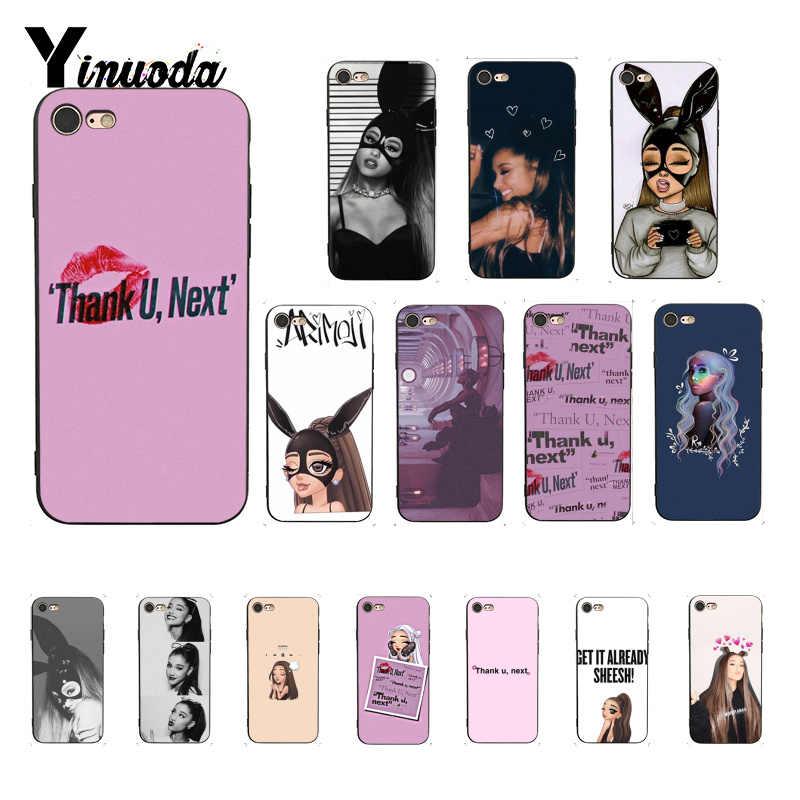Yinuoda ขอบคุณ U ถัดไป Ariana Grande สีสันน่ารักสำหรับ iPhone 8 7 6 6 S 6 Plus 5 5 S SE XR X XS MAX Coque Shell