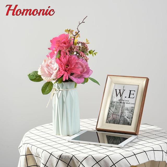 Bukiety ślubne Kwiaty ślubne Sztuczne Silk Rose Hortensje Sztuczne