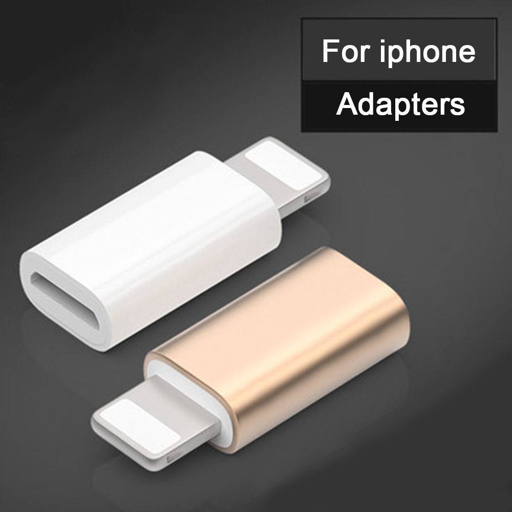 Mini Micro USB To Lighting For Apple Alloy Adapter For IPad Charging OTG Converter For Iphone X XS XR 6 7 Plus Convertor Adaptor