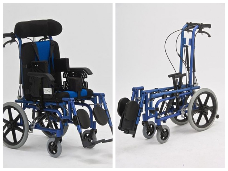 wholesale child Aluminum folding wheelchair for children with cerebral palsy lying FS958 with seat bedsore Handicapped Scooters outdoor folding power motorized handicapped electric wheelchair