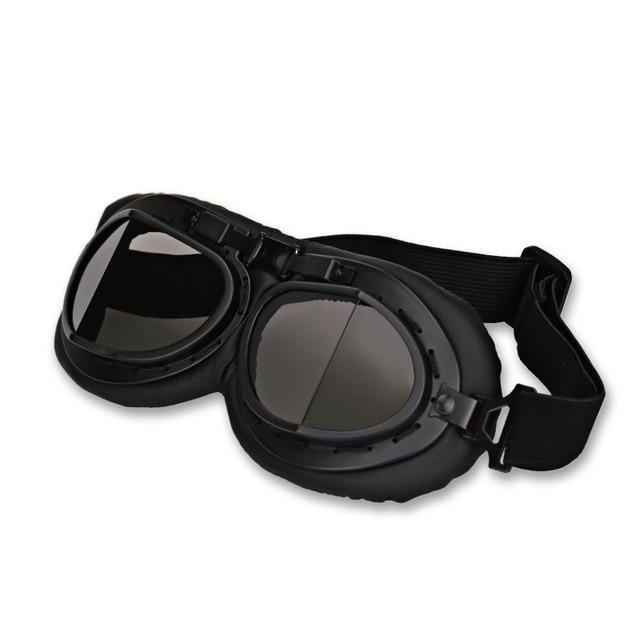 37106c43b63f8 Retro Capacete Da Motocicleta Óculos de Proteção Piloto Aviador Piloto Da Segunda  Guerra Mundial Do Vintage