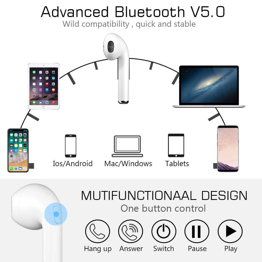 Écouteurs sans fil, GUSGU True sans fil Bluetooth écouteurs 5.0 TWS intra-auriculaires sport sans fil écouteurs intégrés micro 1500 mAh batterie