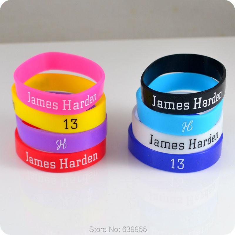 Star sky totem VIIDOO Store 10x James Harden #13 Rockets Basketball Superstar wristband silicone bracelet Sport Fashion jewelry