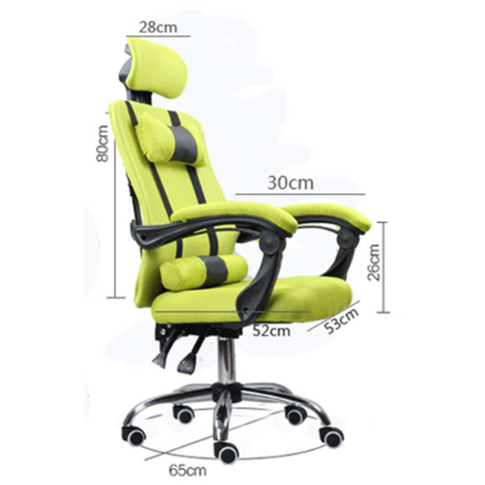 Luxury Quality Office Live Silla Gamer Breathable Cushion Lacework Chair Wheel Ergonomics Can Lie Office Furniture Steel Feet
