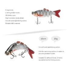 Lixada 10cm 20g Wobblers Fishing Lure 6 Segment Crankbait Swimbait Fish Lure Isca Artificial Bait With Hook Fishing Tackle Pesca