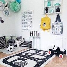 Коврик для ползания в скандинавском стиле, коврик для детской комнаты, коврик для игры в дорожную дорожку, игровой коврик для спортзала