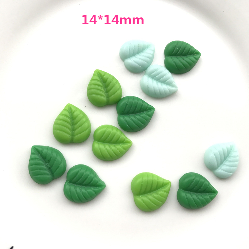 Mix 30 шт./лот плоской задней смолы зеленые листья смолы ремесла кабошоны аксессуары каваи смолы Радуга телефон защиты оболочки DIY