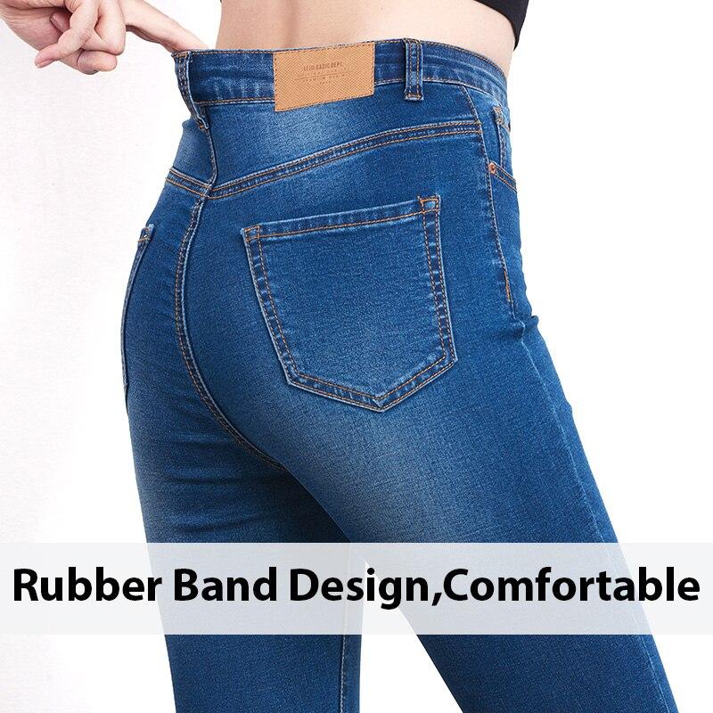 Jeans pour Femmes jean noir Taille Haute Jeans Femme Haute Élastique grande taille Jeans stretch femme lavé denim maigre pantalon moulant 2