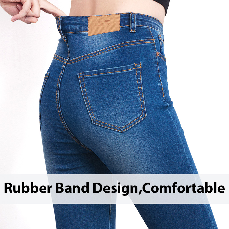 Jeans for Women mom Jeans  High Waist Jeans Woman High Elastic plus size Stretch Jeans female washed denim skinny pencil pants 6
