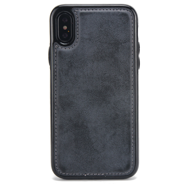 Leather Wallet Magnetic Flip Case For iPhones