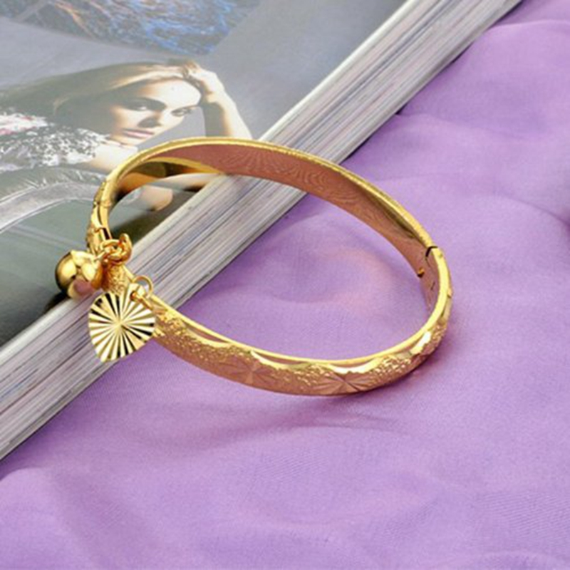Childrens Bangle Yellow Gold Filled Baby Bracelet Dia 42mm