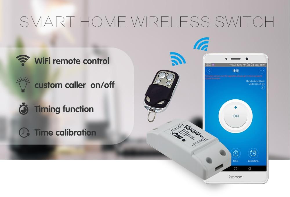 Itead Sonoff Wifi Switch RF 433mhz Wireless Remote Light Switch ...