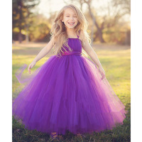 Princess Flower Girls Ball Gown Dresses For Wedding/Birthday/Party Real Photo Baby Girls Tutu Tulle Dress PT39