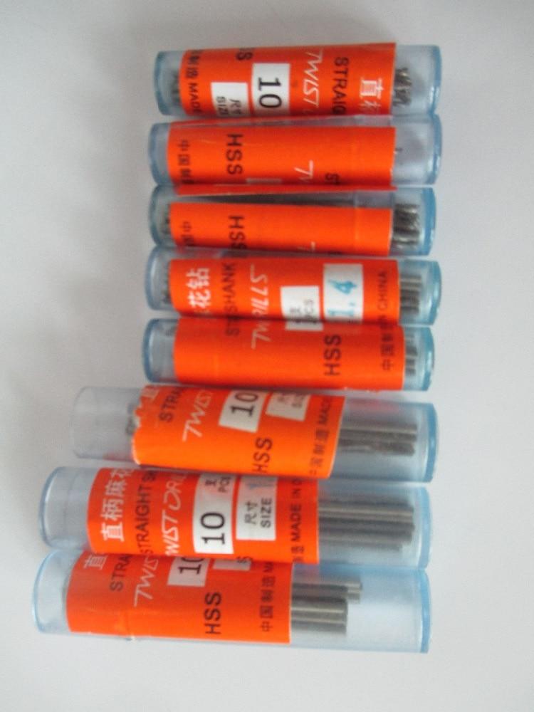 80pcs 1mm 1.2mm 1.3mm 1.4mm 1.5mm 1.7mm 1.8mm 1.9mm HSS Straight Shank High Speed Steel Twist Drill Bits Electric Drill Tools