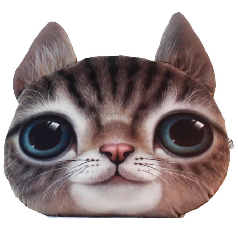 personlaity 3d cat printed cute animal emoji car cushion decorative cartoon pillows plush toys