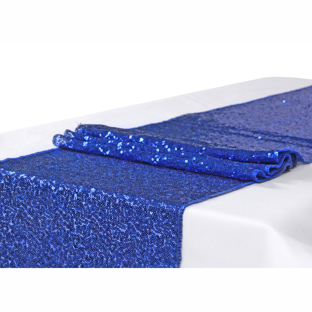 Meijuner 10pcs 30* 275cm Royal Blue Shiny Sequin Table Runner For Wedding  Party Christmas Table