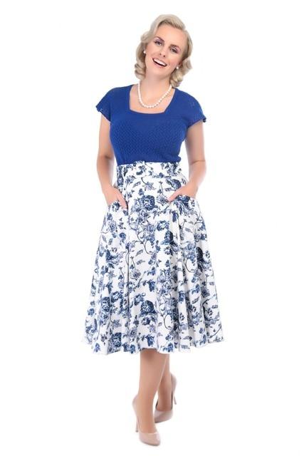 retro vintage 50s Mia Toile Print high waist swing midi circle skirt plus  size 4xl saia rockabilly pinup cotton skirts 0c2bc655ce2b