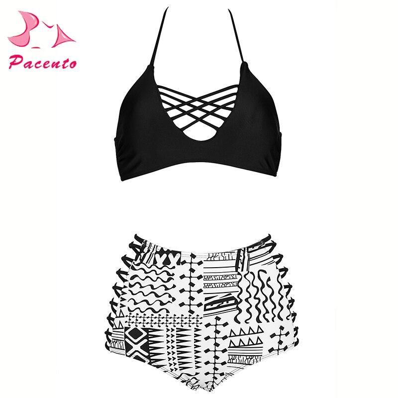 e5f7bb3a2a6ea Pacento Sexy Push Up 2018 Plus Size Swimwear Women s High Waisted Bikini  Set String Swimsuit Female Large Bathing Suits 4XL XXXL-in Bikinis Set from  Sports ...
