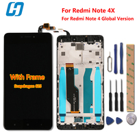 Xiaomi Redmi Note 4X LCD Display Touch Screen Frame Digiziter Touch Panel For Xiaomi Redmi Note